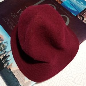 Accessories - Women's 100 %Wool Knit hat burgundy color